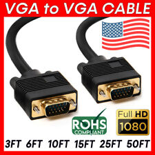 VGA to VGA Cable Full HD 1080p Monitor Cord Mac PC Laptop HDTV Male to Male