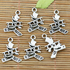 20pcs tibetan silver chimney sweep with ladder charms EF2331