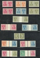 Germany Mint MNH-MH, Germania tete beche pairs and gutter pairs collection 1920
