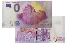 Burg Kriebstein  2017-1 Null Euro Souvenirschein|€ 0 Euro Souvenir Schein Billet