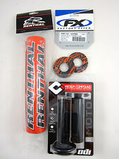 "Renthal Orange 10"" Crossbar Bar Pad Black ODI Grips Grip Donuts SXF EXC XC MXC"