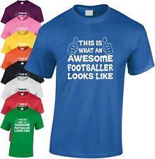 Toll Fußballspieler Kinder T-Shirt Cool Jugend Fußball Top Geschenk