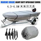 14-14.8ft 210d Heavy Duty Open Boat Cover For Open Styled Boat-trailerable Gray