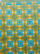 Turquoise and Paisley King Bed Quilt