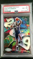 "2019 Zion Williamson #7 Panini Certified ""Graffiti"" Card Graded PSA 8 Rookie RC"
