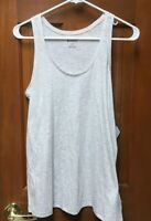 New Columbia Woman's Large Loose Active Workout Tank Top Gray Racerback NWT