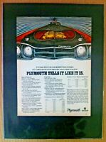 "1969 Plymouth Road Runner 3x2 440 *Original*6 pak ""Ready to Display"" car ad 1968"