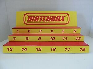 Matchbox  Superfast Product / Display. 3 platforms for Matchbox  cars