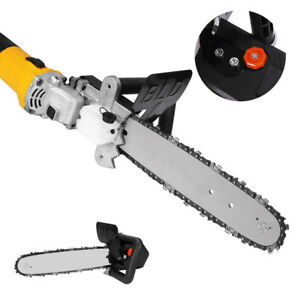 12'' Electric Chainsaw Bracket Grinder Conversion Head Tree Woodworking Kit