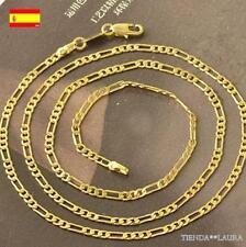 Cadena hombre eslabon figaro 50 cm con oro amarillo 9K GF. Oferta.