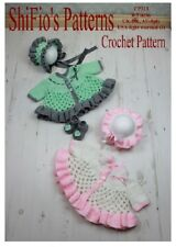 CROCHET PATTERN for BABY MATINEE JACKET HAT SHOES  #313 NOT CLOTHES