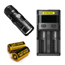 Nitecore EC11 900Lm Flashlight -Includes SC2 Charger & 2x IMR 18350 Battery