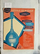 """Harry Reser's """"Let's Play the Mandolin."""""""