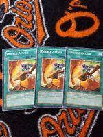 Yugioh Double Attack 1st edition common TLM x3