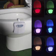 Toilet Bathroom LED Night Light Sensor Motion Activated Seat Body Lamp