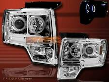 2009 2010 2011 FORD F150 CHROME TWIN HALO PROJECTOR HEADLIGHTS LED CCFL 09 10 11