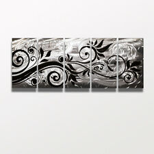Silver Metal Wall Art Large Contemporary Abstract Sculpture Painting Decor Jones