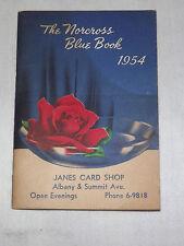 VINTAGE OLD STORE 1954 NORCROSS BLUE BOOK  CALENDAR JANES CARD SHOP ALBANY