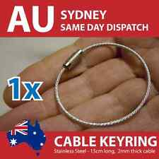 Stainless Steel Cable Wire Key Ring Keyring - 1.6mm Wire