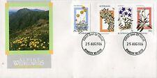 1986 Alpine Wildflowers (25c,5c 3c & 36c Stamps) FDC - Bunbury WA6230 PMK