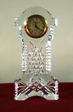 """WATERFORD CRYSTAL GOLD FACED GRAND FATHER CLOCK  5 3/4"""" IRELAND (NOT WORKING)"""
