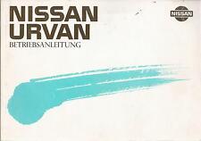 NISSAN   URVAN   1989   Betriebsanleitung   E24    Bedienungsanleitung   BA