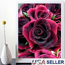 ROSE Full Drill DIY 5D Diamond Painting Embroidery Cross Crafts Stitch Decor USA