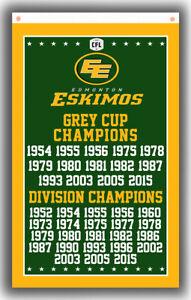 Edmonton Eskimos Football Team Champions Cup Flag 90x150cm 3x5ft  Best Banner