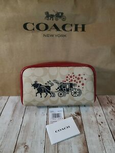 Coach Cosmetic Case C2257 Boxy Signature Lunar Year OX & Carriage Retail $128.00
