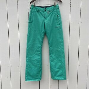 Volcom Insulation Let It Storm Womens XS Teal Winter Snow Pants inseam 32""