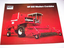 Massey-Ferguson Mf 550 Western Combine Brochure