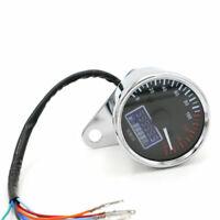 Moto LCD numérique Odomètre Compteur de vitesse Tachymètre Jauge de carburant