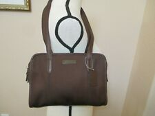 Vintage Coach Brown Glove Tanned Leather Trimmed Handbag Water Dirt Resistant
