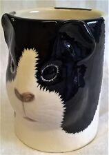 QUAIL CERAMIC BLACK & WHITE GUINEA PIG DESK TIDY, PENCIL, PEN, BRUSH POT OR VASE