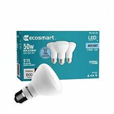 (3-Pack) EcoSmart R20 Daylight LED, Dimmable, 600-Lumen, 5000K, 8-Watt (3 Pack)