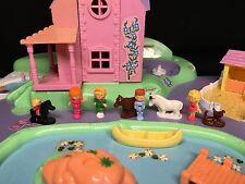 Polly Pocket Mini 💛 1991 Polly's Dream World Spielwelt Traumland Stadt Town 25