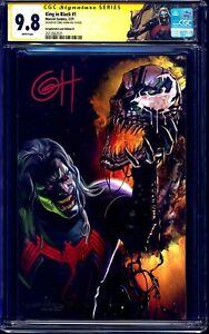 King In Black #1 CGC SS 9.8 signed Greg Horn VIRGIN VARIANT B CUSTOM KNULL LABEL