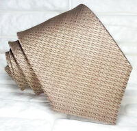 Necktie solid brown silk Made in Italy classic Morgana business / wedding ties