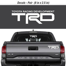 Toyota TRD Truck Off-Road Racing Decals Tacoma Tundra Pair Vinyl Sticker decal