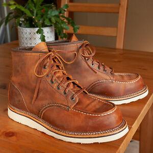 Red Wing 1907 Copper Rough & Tough Moc Boots - Size 10 D