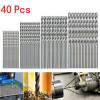 40 Pcs Mini Drill HSS Bit 0.5mm-2.0mm Straight Shank PCB Twist Drill Bits Set