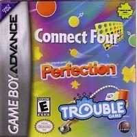 Connect Four / Perfection / Trouble - Nintendo Game Boy Advance