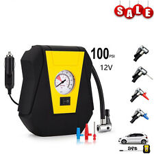 12V 100 PSI Portable Car Tire Inflator Pump Electric Emergency Air Compressor