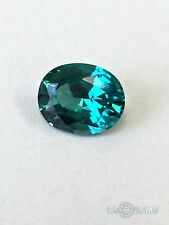Tourmaline Paraiba. Oval 10x8mm. 2.75 Ct. Created Gemstone Monosital. US@GEMS
