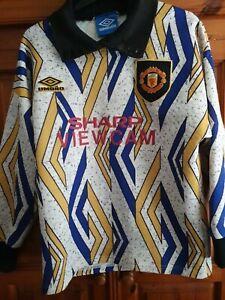 Manchester United rare shirt GK 93-94 Umbro #1 SCHMEICHEL SIZE S  READ BIO
