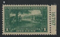 1924 Lexington Concord Sc 617 MH plate number Hebert CV $10