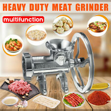 Heavy Duty Manual Meat Grinder Hand Operated Mincer Food Kitchen Aluminium Alloy