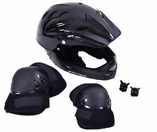 BLACK SERIES BMX BIKE RIDERS PACK: FULL FACE HELMET, PADS, SKULL LED LIGHT