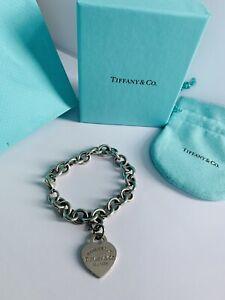 Massiv Tiffany &Co Armband Herz abnehmbar Silber 925 Set 18cm  Stempel Massiv