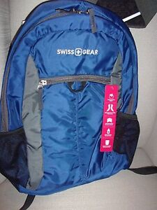 "SwissGear Backpack Up To 15"" I Laptop: BLUE Retail $35.99 Durable/Light Weight"